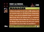 2007 Topps #249  Tony La Russa  Back Thumbnail