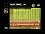 2007 Topps #333  Mark Kotsay  Back Thumbnail