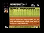 2007 Topps #354  Chris Iannetta  Back Thumbnail