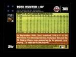 2007 Topps #388  Torii Hunter  Back Thumbnail