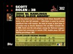 2007 Topps #302   -  Scott Rolen Golden Glove Back Thumbnail