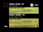 2007 Topps #327   -  Bobby Abreu / Derek Jeter Classic Combo Back Thumbnail