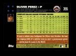 2007 Topps #355  Oliver Perez  Back Thumbnail