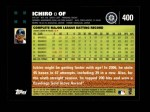2007 Topps #400  Ichiro Suzuki  Back Thumbnail