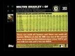 2007 Topps #393  Milton Bradley  Back Thumbnail