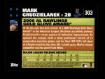 2007 Topps #303   -  Mark Grudzielanek Golden Glove Back Thumbnail