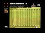 2007 Topps #340  Roger Clemens  Back Thumbnail