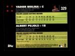 2007 Topps #329   -  Yadier Molina / Albert Pujols Classic Combo Back Thumbnail