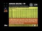 2007 Topps #374  Adrian Beltre  Back Thumbnail
