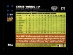 2007 Topps #379  Chris Young  Back Thumbnail