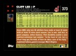 2007 Topps #373  Cliff Lee  Back Thumbnail