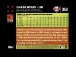 2007 Topps #350  Chase Utley  Back Thumbnail