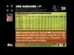 2007 Topps #359  Jon Garland  Back Thumbnail