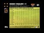2007 Topps #381  Ronny Paulino  Back Thumbnail