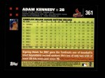 2007 Topps #361  Adam Kennedy  Back Thumbnail
