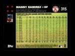 2007 Topps #315  Manny Ramirez  Back Thumbnail