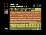 2007 Topps #326  Justin Verlander  Back Thumbnail