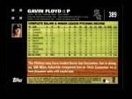 2007 Topps #389  Gavin Floyd  Back Thumbnail