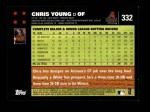 2007 Topps #332  Chris Young  Back Thumbnail