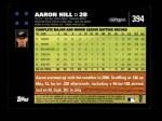 2007 Topps #394  Aaron Hill  Back Thumbnail