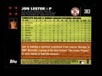 2007 Topps #383  Jon Lester  Back Thumbnail