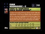 2007 Topps #318   -  Ivan Rodriguez Golden Glove Back Thumbnail