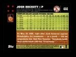 2007 Topps #444  Josh Beckett  Back Thumbnail