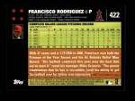 2007 Topps #422  Francisco Rodriguez  Back Thumbnail
