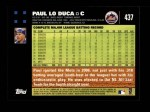 2007 Topps #437  Paul LoDuca  Back Thumbnail