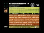 2007 Topps #433  Brandon Morrow  Back Thumbnail