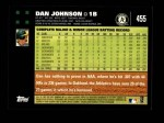 2007 Topps #455  Dan Johnson  Back Thumbnail
