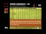 2007 Topps #453  Howie Kendrick  Back Thumbnail