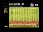 2007 Topps #466  Raul Ibanez  Back Thumbnail