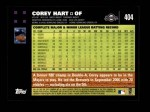 2007 Topps #404  Corey Hart  Back Thumbnail