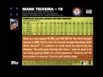 2007 Topps #440  Mark Teixeira  Back Thumbnail