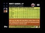 2007 Topps #480  Matt Garza  Back Thumbnail