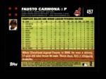 2007 Topps #497  Fausto Carmona  Back Thumbnail