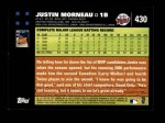 2007 Topps #430  Justin Morneau  Back Thumbnail