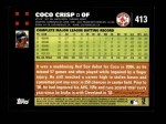 2007 Topps #413  Coco Crisp  Back Thumbnail