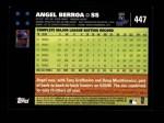 2007 Topps #447  Angel Berroa  Back Thumbnail