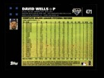 2007 Topps #471  David Wells  Back Thumbnail