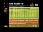 2007 Topps #483  Kris Benson  Back Thumbnail
