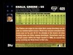 2007 Topps #409  Khalil Greene  Back Thumbnail