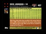 2007 Topps #407  Nick Johnson  Back Thumbnail