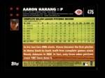 2007 Topps #476  Aaron Harang  Back Thumbnail