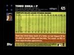 2007 Topps #425  Tomo Ohka  Back Thumbnail