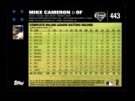 2007 Topps #443  Mike Cameron  Back Thumbnail