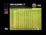 2007 Topps #410  Tom Glavine  Back Thumbnail