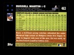 2007 Topps #463  Russell Martin  Back Thumbnail