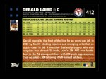 2007 Topps #412  Gerald Laird  Back Thumbnail